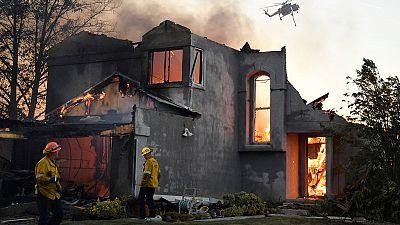 California wine country fire began near damaged PG&E tower, 2,000 flee