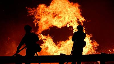 California firefighters take offensive against blazes in wine country, L.A. suburbs
