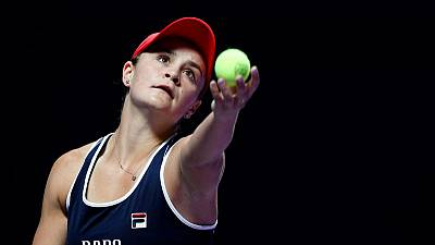 Barty takes opening WTA Finals win to seal top spot in rankings
