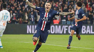 Icardi, Mbappe shine as PSG thrash Marseille