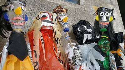 Indonesian students use puppets to banish 'big ghost' of plastic waste