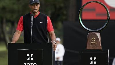 Tiger Woods vince Zozo Champions