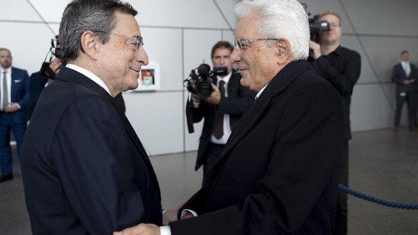 Bce: Mattarella, grazie Draghi