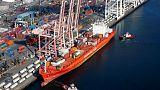 Ebbing flows curb U.S. goods trade deficit; inventories mixed