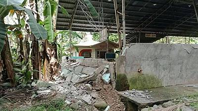 Strong quake in Philippines kills at least two, injures dozens
