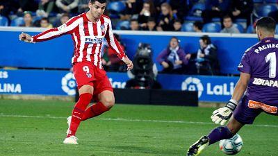 Atletico:non basta Morata,1-1 con Alaves