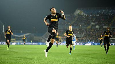 Inter hang on for win at Brescia after Lukaku strike