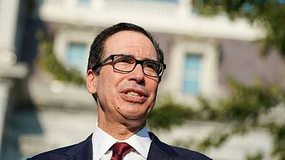 Global growth slowing, modest drag on U.S. - Treasury's Mnuchin
