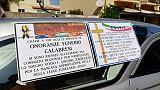 Carri funebri davanti Consiglio Calabria