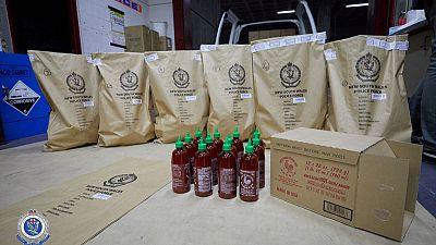 Red hot bust: Australian police seize 400 kilos of 'ice' hidden in chilli sauce bottles