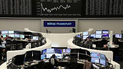 European shares up on Fed boost; autos, energy cap gains