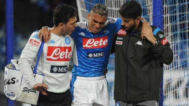 Napoli: distorsione per Allan,salta Roma