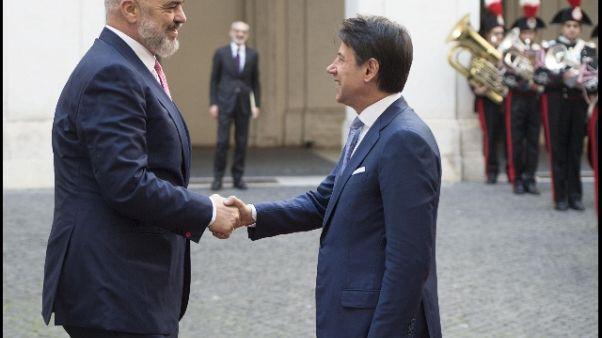 Conte,siamo per ingresso Albania in Ue
