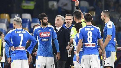 Squalifica Ancelotti, ricorso del Napoli