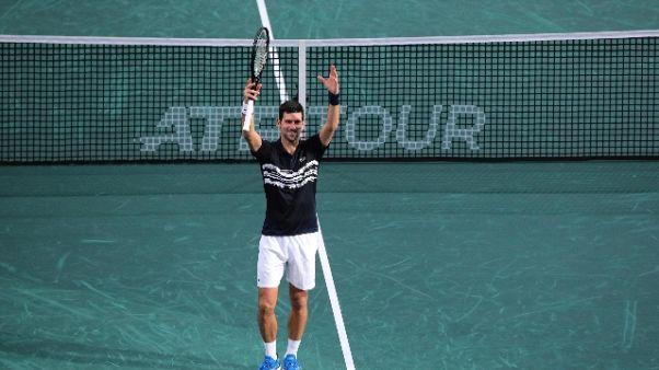 Tennis: Bercy, Djokovic in semifinale