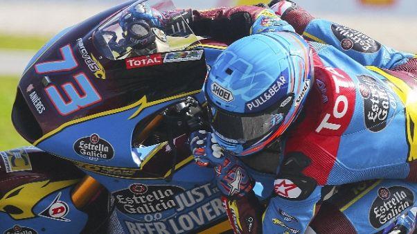 Malesia, Alex Marquez in pole in Moto2