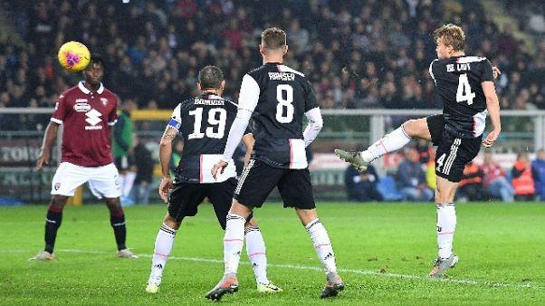 Torino-Juventus 0-1, decide De Ligt