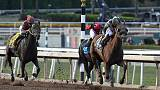Horse racing - Blue Prize stuns Midnight Bisou in Breeders' Distaff