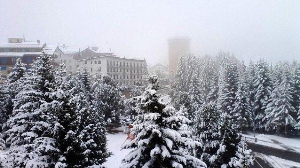 Nevica in Piemonte, 20cm al Sestriere