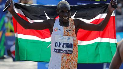 Kenyans Kamworor, Jepkosgei claim New York Marathon titles