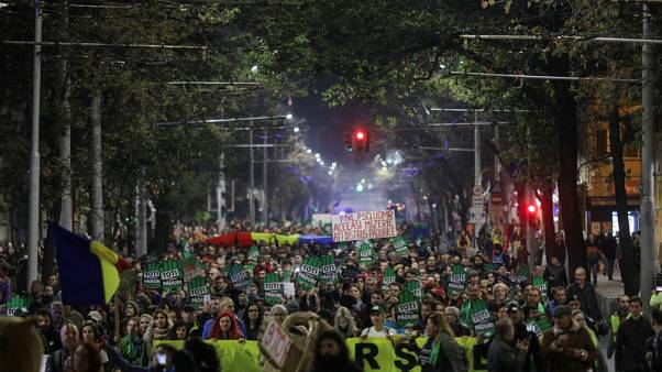 Thousands of Romanians protest against illegal logging, attacks on forest workers