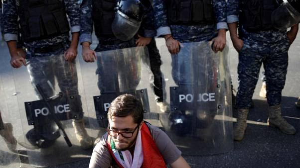 Protesters block roads in Beirut, other areas of Lebanon