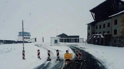 Neve,chiuso colle Piccolo San Bernardo