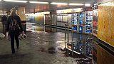 Maltempo: allagata stazione metro a Roma