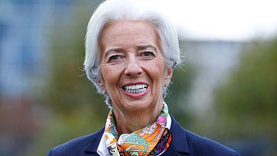 In first speech as ECB president, Lagarde lauds key critic