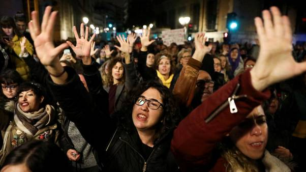 'It's not abuse, it's rape': protesters denounce Spanish court ruling on sex assault case
