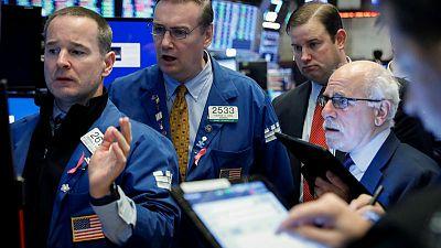 Global stock edges higher; oil, dollar gain on trade hopes