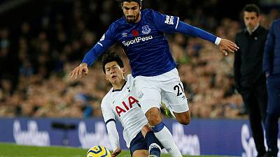 Spurs appeal Son red card for tackle on Everton's Gomes