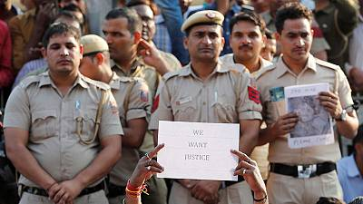 Delhi police protest after brawl with lawyers over parking lot row