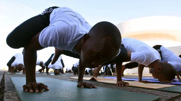 Warrior pose: Sierra Leone's soldiers heal trauma with yoga