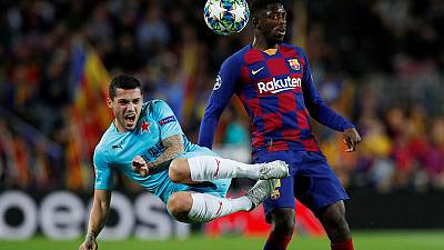 Toothless Barca draw blank at home to Slavia