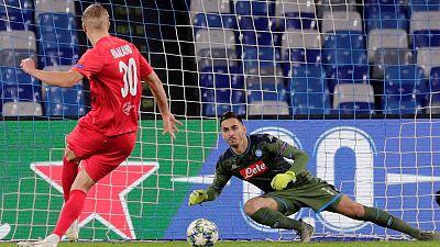Erratic Napoli held by Salzburg as Haaland strikes again