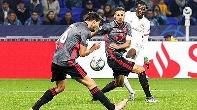 Lyon beat Benfica 3-1 to revive last-16 chances