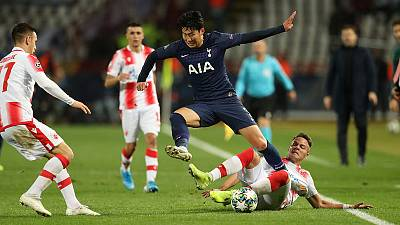 Spurs close in on last-16 berth with 4-0 rout of Red Star