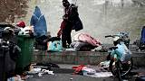 French police clear migrant tent camps in northern Paris