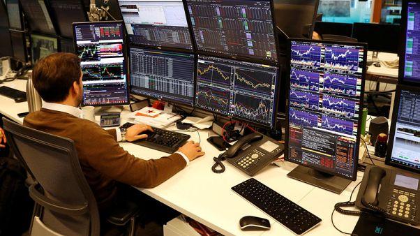 UK shares rise on upbeat earnings updates, trade hopes