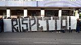 Calcio: protesta ultrà Napoli 'Rispetto'