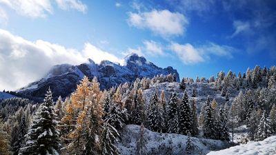 Prima neve su Dolomiti venete
