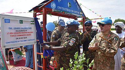 UNAMID Pakistani Peacekeepers Construct Children's Park in Kabkabiya, North Darfur