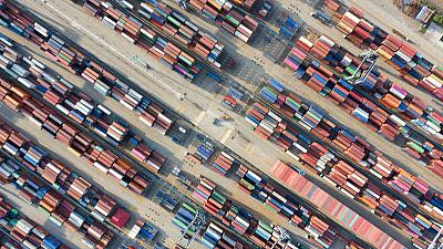China's October exports, imports fall less than expected