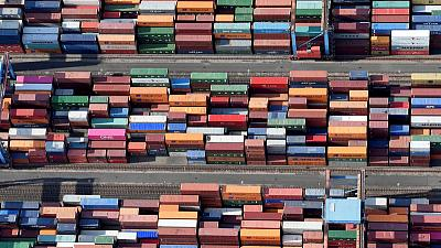 Biggest rise in German exports in nearly two years gives some relief from recession fears