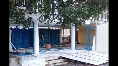 Raid vandalico lido comunale Reggio C.