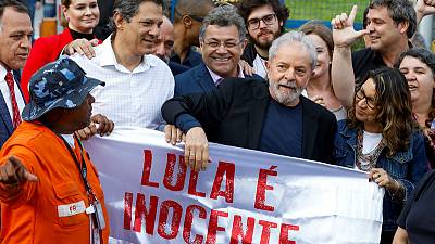 Lula leaves prison, firing up Brazil's left and right
