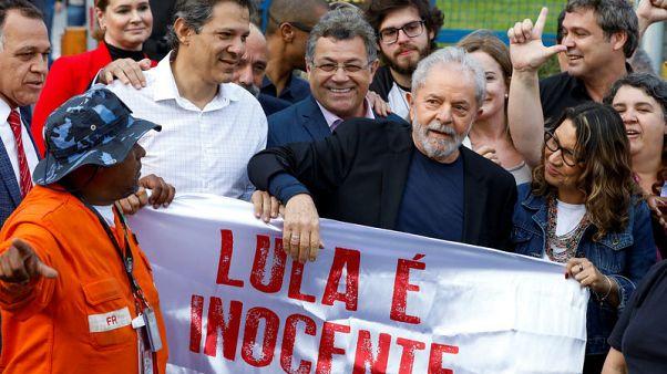 Lula leaves prison, firing up Brazil's left and right