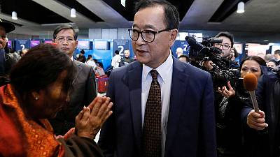 Cambodian opposition figure Sam Rainsy allowed entry to Malaysia - witness