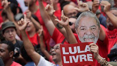 Brazil's Bolsonaro swipes at newly released Lula